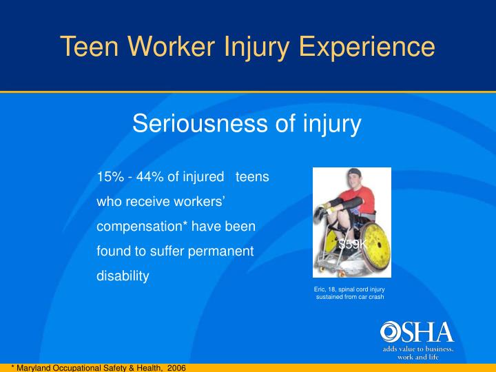 Teen Worker Injury Experience