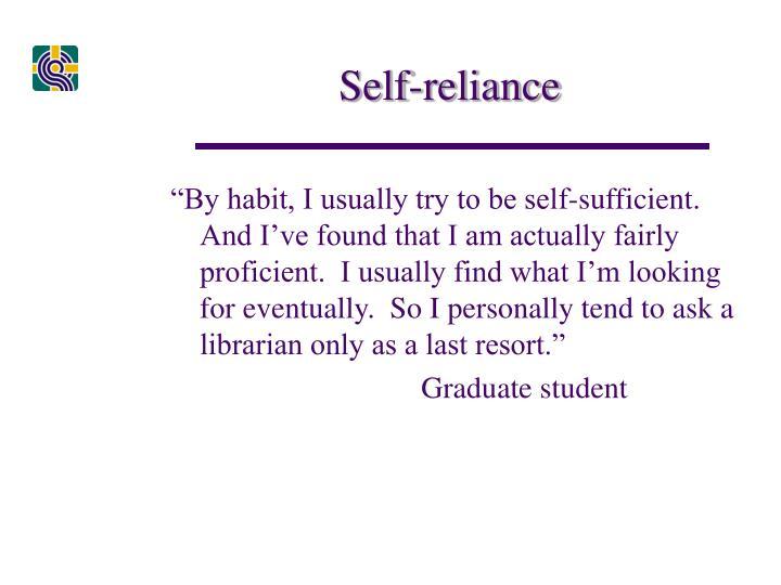 Self-reliance