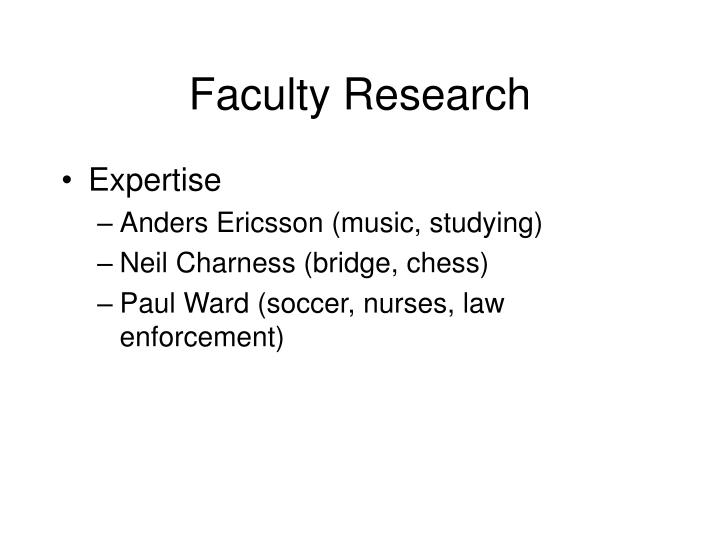 Faculty Research
