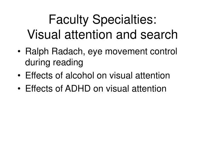 Faculty Specialties: