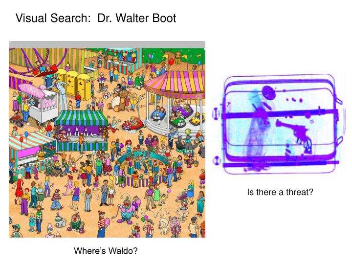 Visual Search:  Dr. Walter Boot