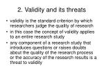 2 validity and its threats