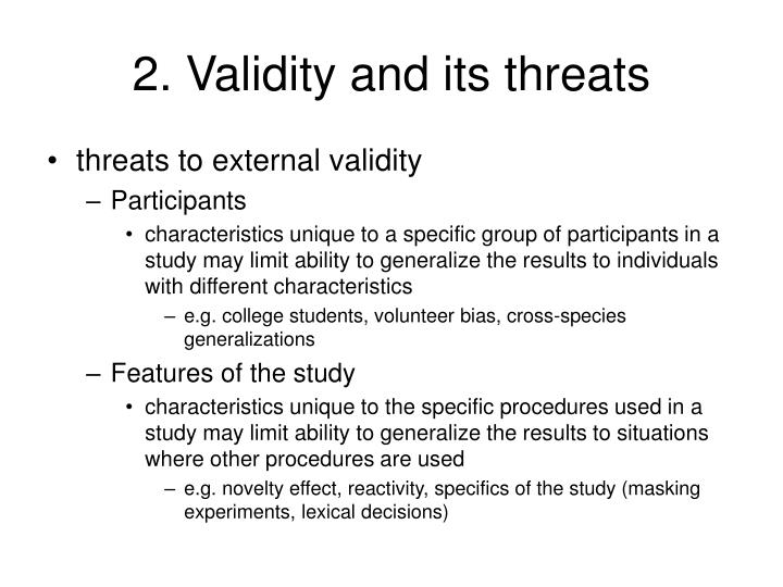2. Validity and its threats