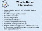 what is not an intervention
