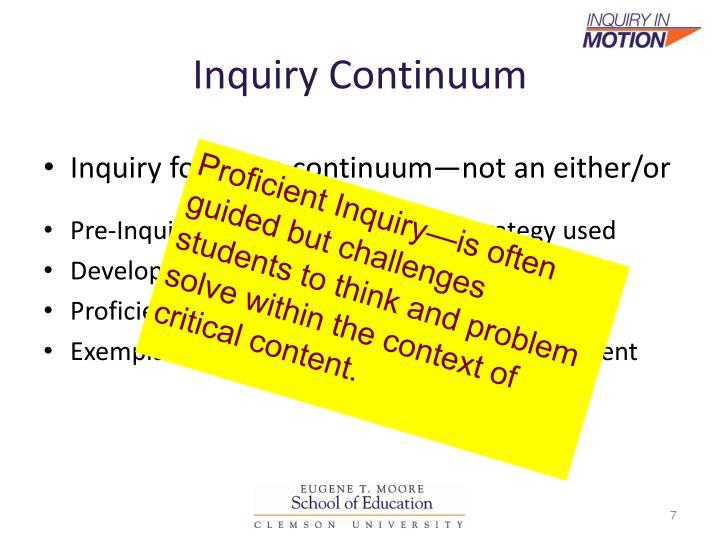 Inquiry Continuum