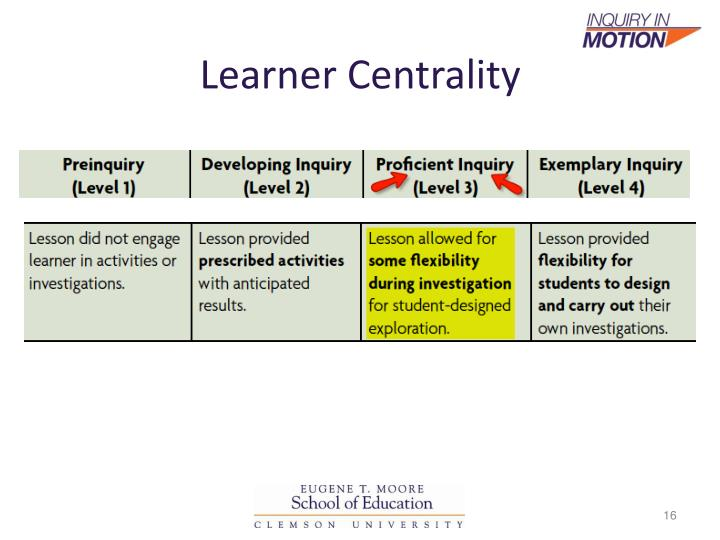 Learner Centrality