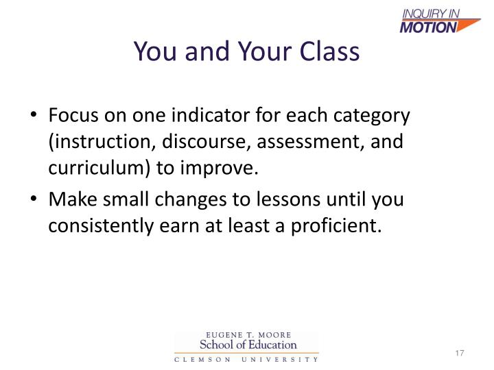 You and Your Class