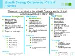 ehealth strategy commitment clinical priorities