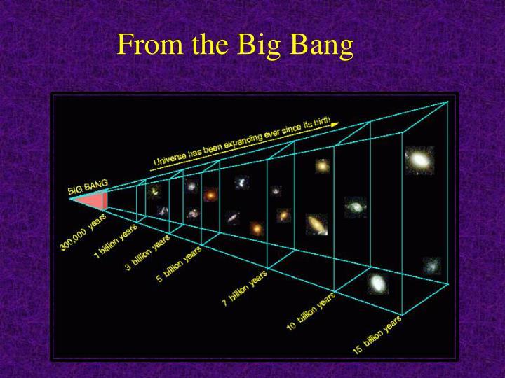 From the Big Bang