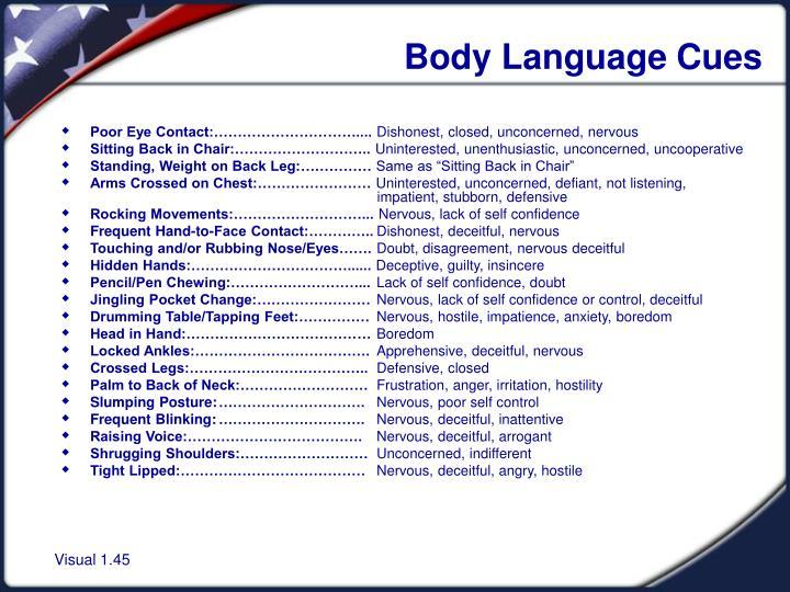 Body Language Cues