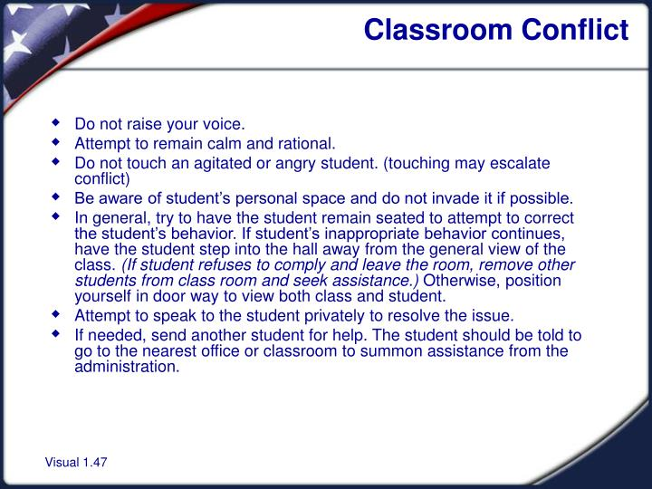 Classroom Conflict
