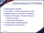 possible scenarios to think about
