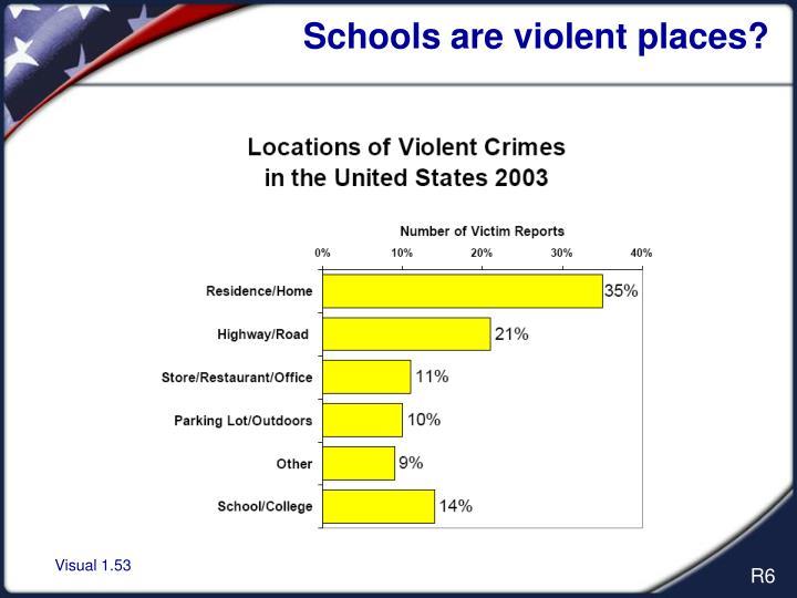 Schools are violent places?