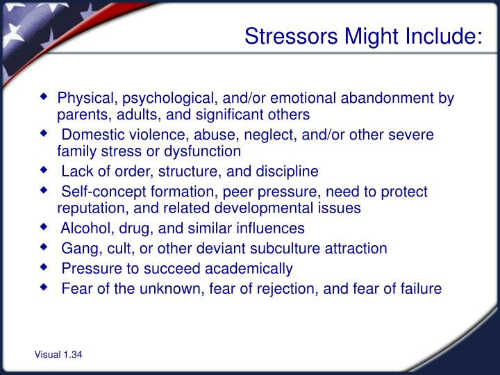 Stressors Might Include:
