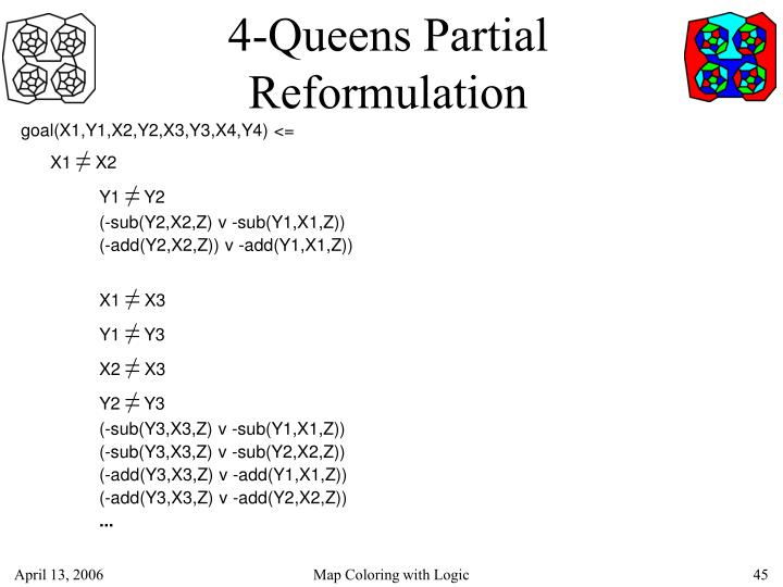 4-Queens Partial Reformulation
