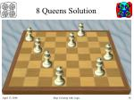 8 queens solution