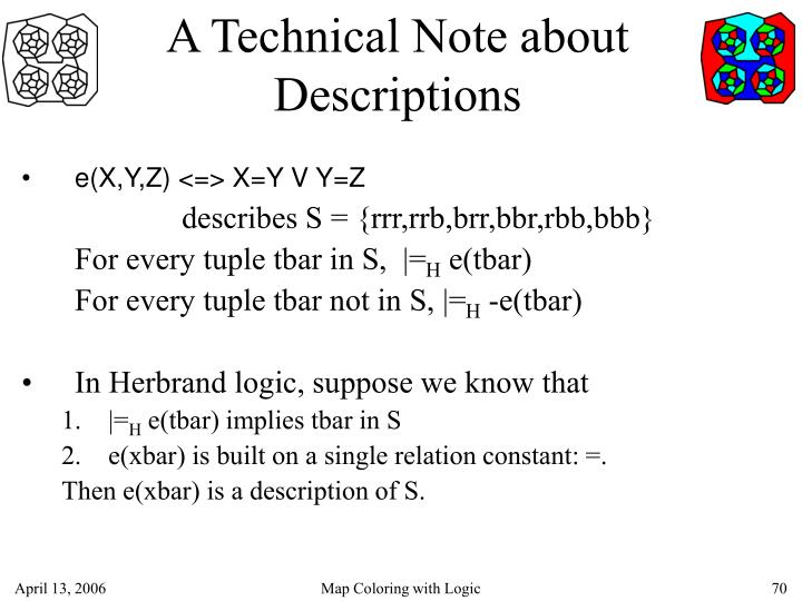 A Technical Note about Descriptions