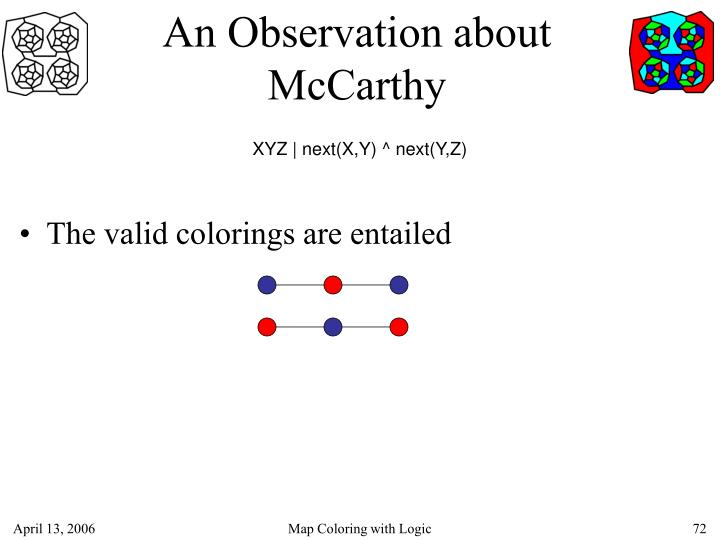 An Observation about McCarthy