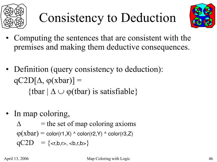 Consistency to Deduction