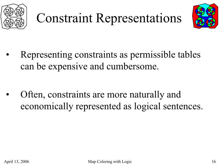 Constraint Representations