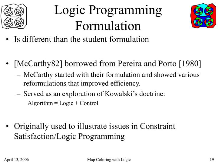 Logic Programming Formulation
