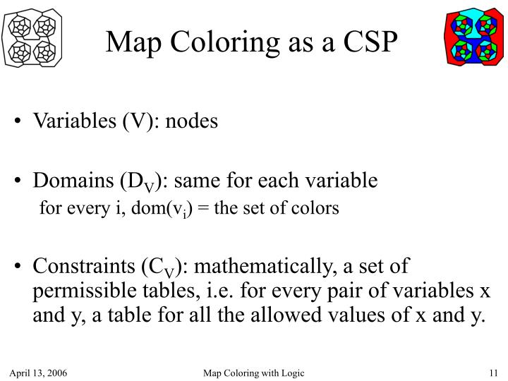 Map Coloring as a CSP
