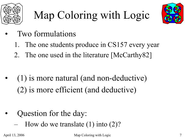 Map Coloring with Logic