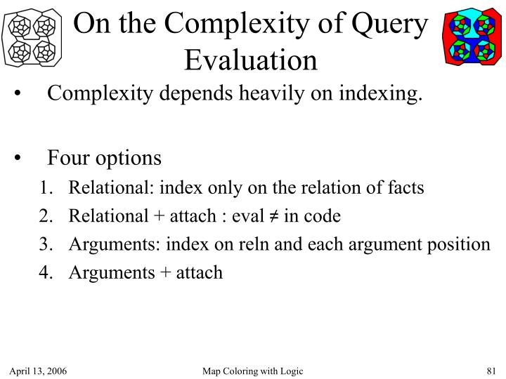 On the Complexity of Query Evaluation