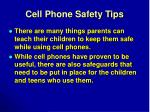 cell phone safety tips
