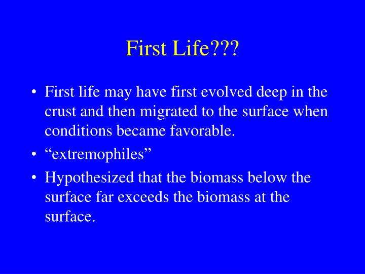 First Life???