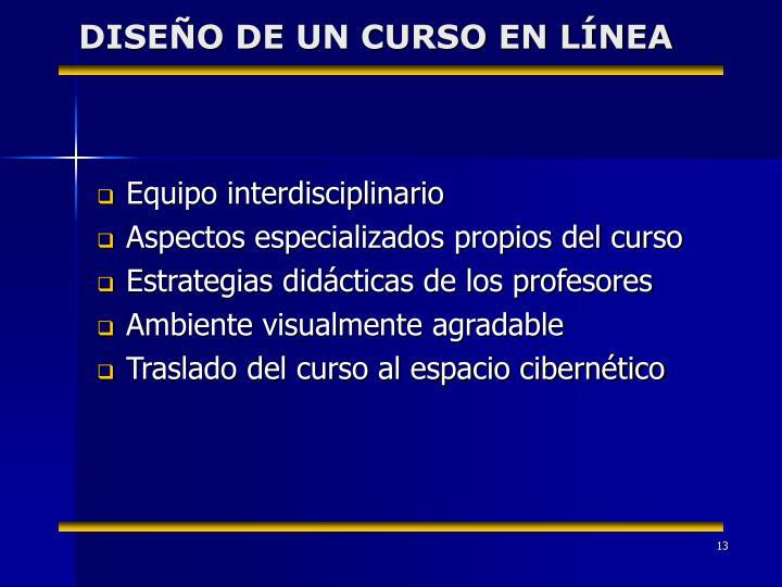 DISEÑO DE UN CURSO EN LÍNEA