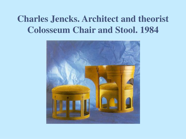 Charles Jencks. Architect and theorist