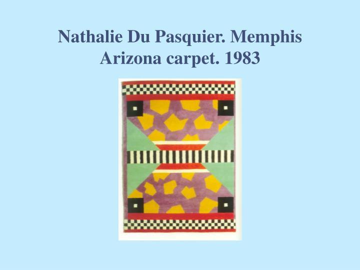 Nathalie Du Pasquier. Memphis