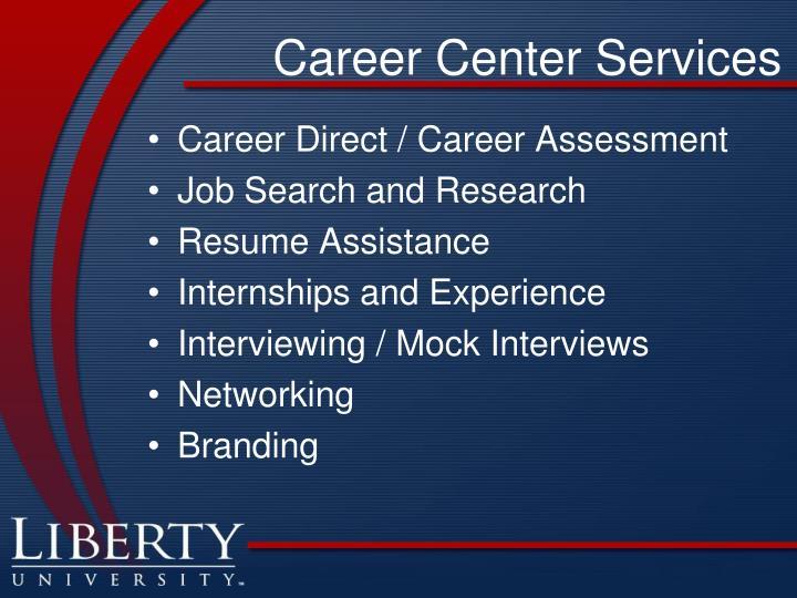 Career Center Services