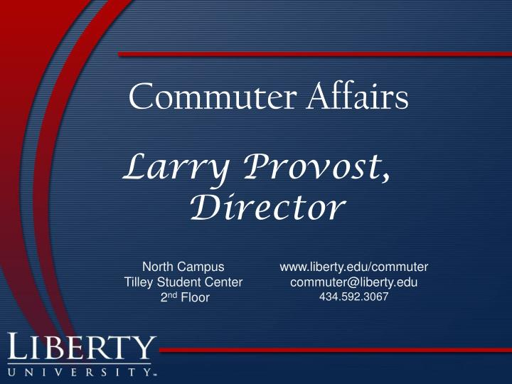 Commuter Affairs