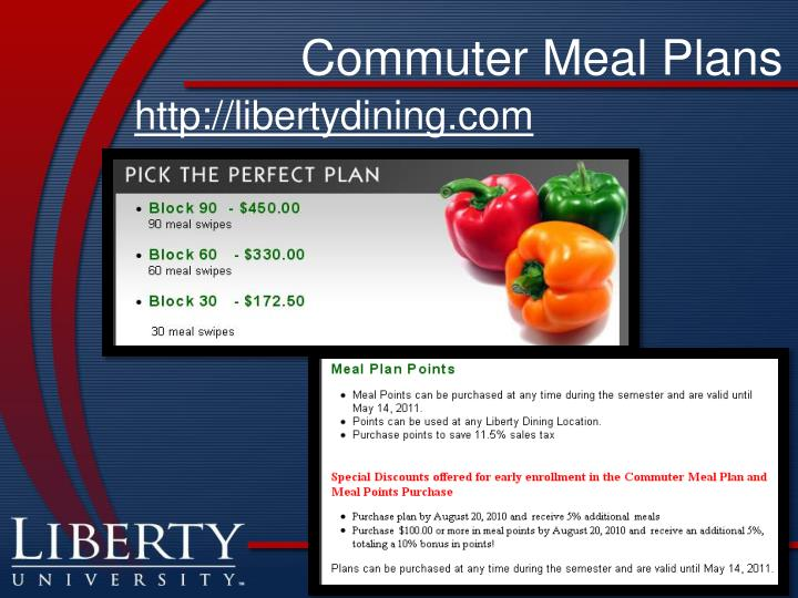 Commuter Meal Plans