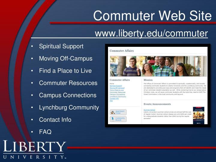 Commuter Web Site