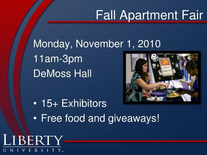 Fall Apartment Fair