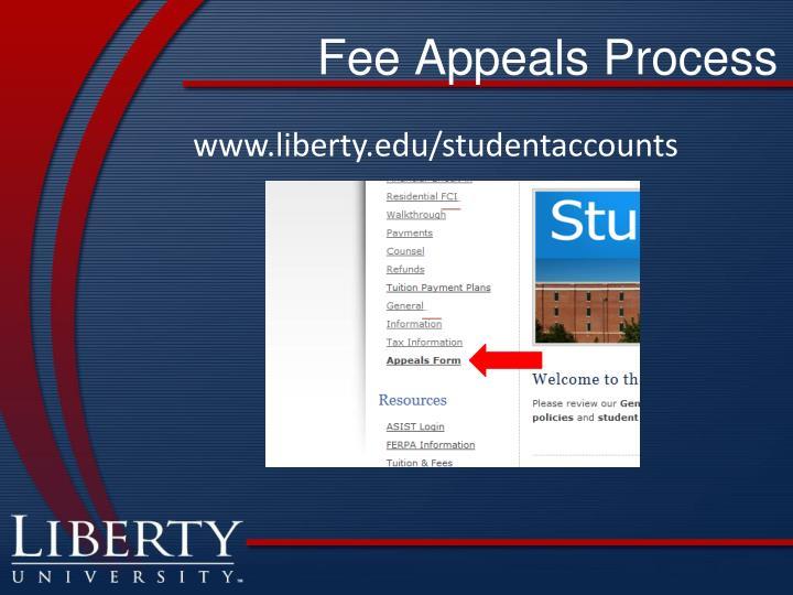 Fee Appeals Process