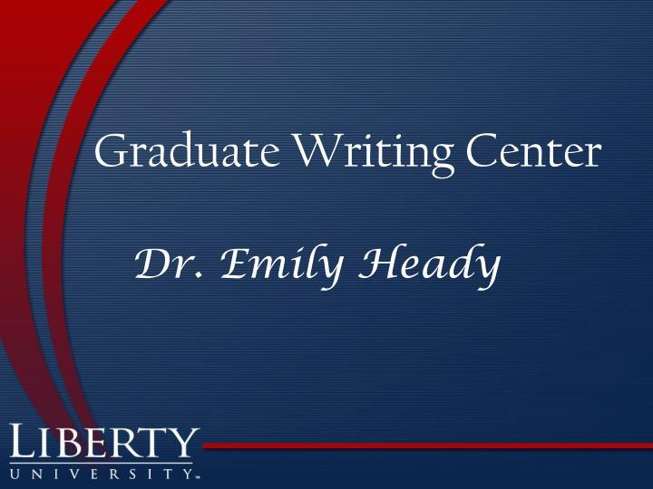 Graduate Writing Center