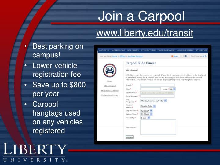 Join a Carpool