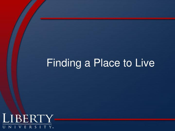 Finding a Place to Live