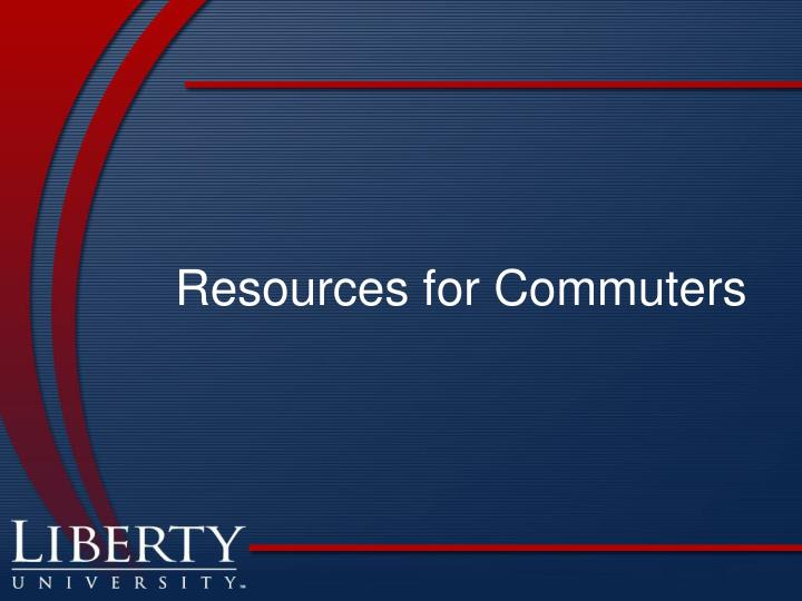 Resources for Commuters