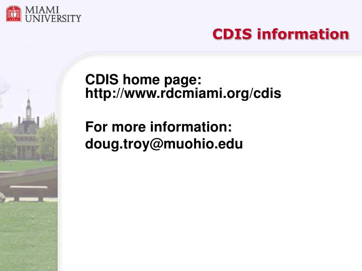 CDIS information