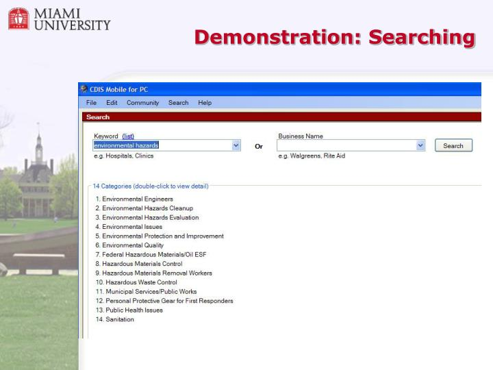 Demonstration: Searching