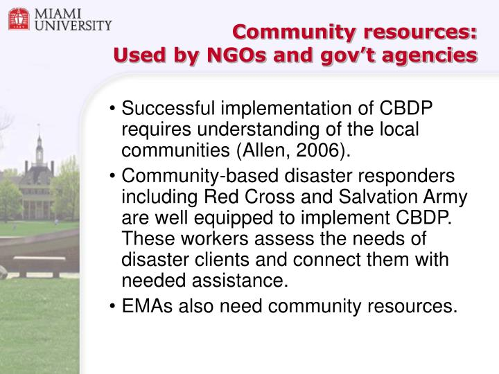 Community resources: