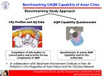 benchmarking uaqm capability of asian cities