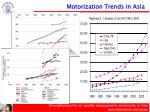 motorization trends in asia