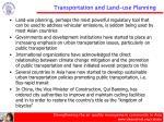 transportation and land use planning