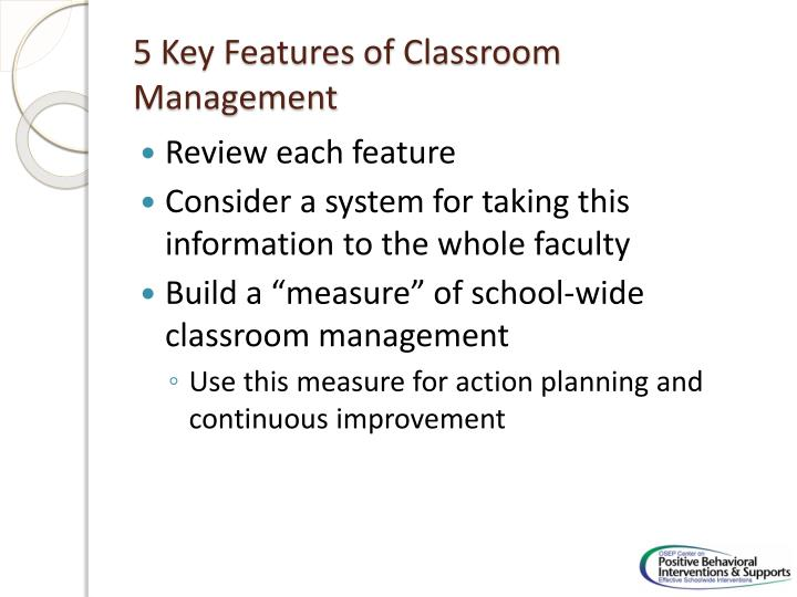 5 Key Features of Classroom Management